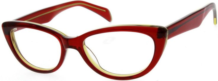 Just red cat eye glasses Zenni Optical