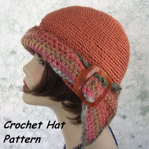 Womens Crochet Hat Pattern With Headband Flapper Style Easy To Make | studio7designs - Craft Supplies on ArtFire