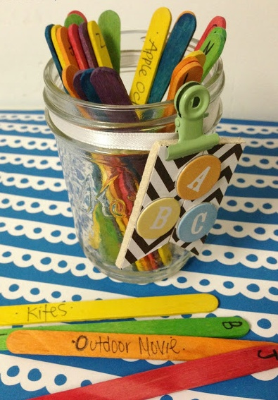 Summer Activity Jars are a great fun way for kids to get excited about enjoying summer days!