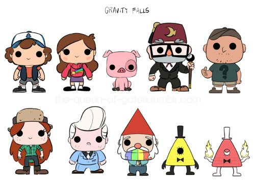 Gravity Falls Funko Pop Figures>>> if they don't make these I'll die from sadness.. I can verify that that will indeed happen<<<WHERE IS FORD?!