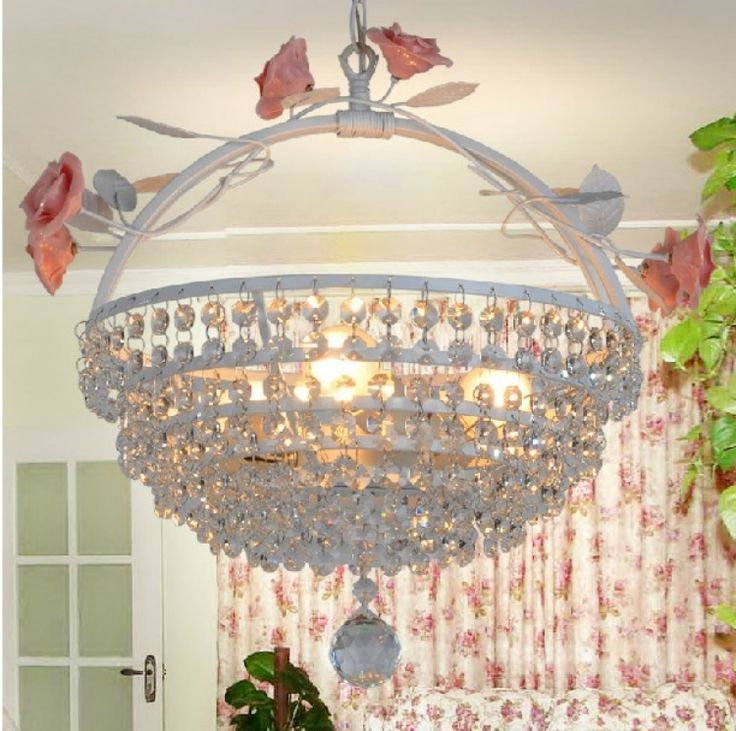 Modern Style Large Round Pendant Lighting with Crystal
