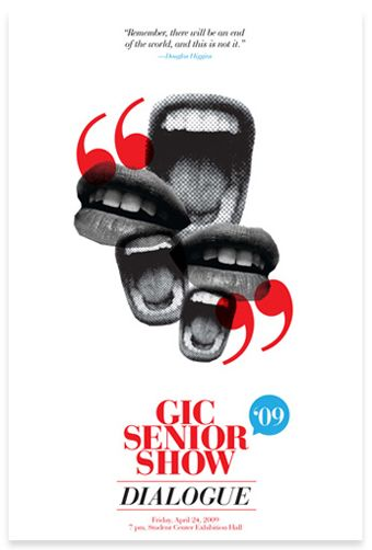 """Senior show poster of course. All good ideas have been taken. and ya never find em until you have already """"copied"""" them"""