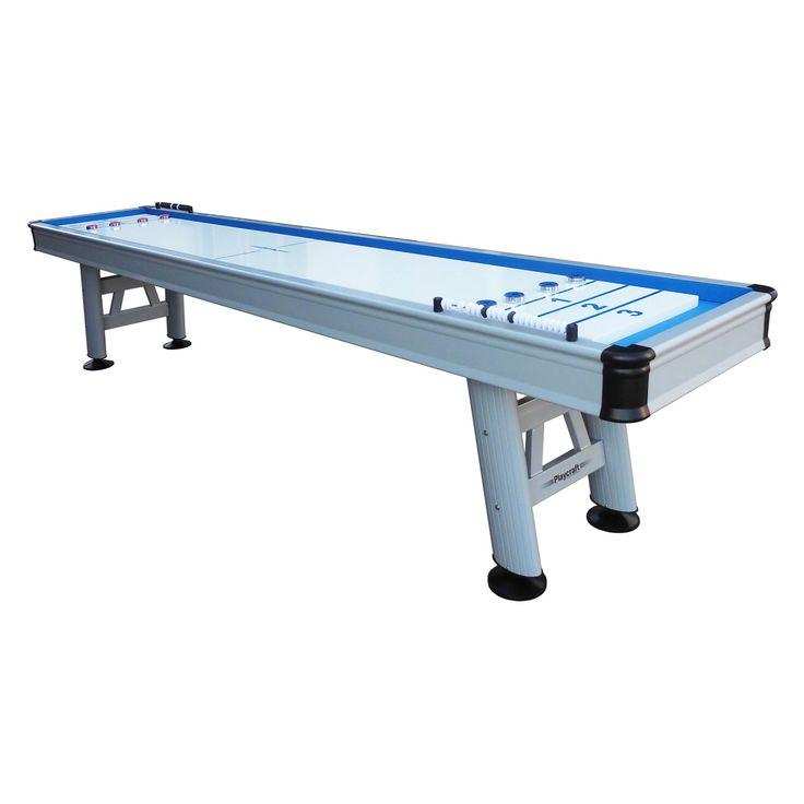 Playcraft Extera 12 ft. Outdoor Shuffleboard Table - SHEXEB12W