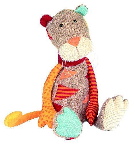 sigikid Sweety Tiger's triangular stripes are made of different colors and textures of fabric. His long body has beans to make him sit up straight--when he's not off on an adventure with you that is! He just...