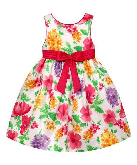 American Princess Pink & Purple Floral A-Line Dress - Infant, Toddler & Girls | zulily