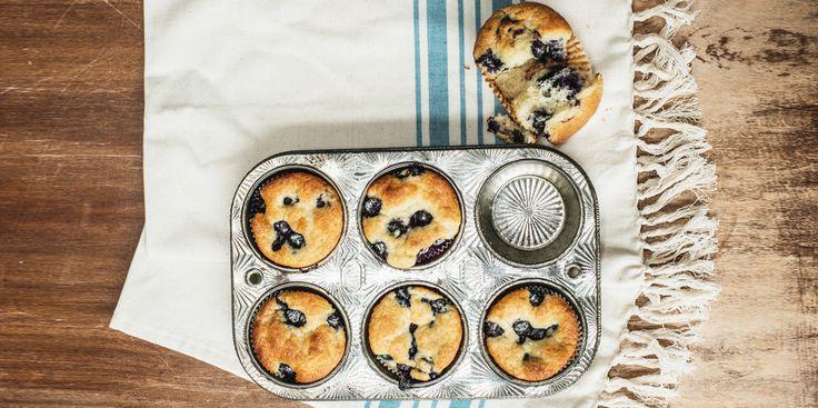 Triple Coconut & Blueberry Muffins via @iquitsugar