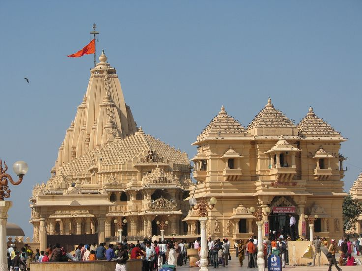 Somnath temple is a famous temple of Gujarat.