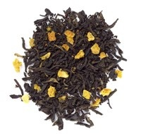 Organic La la lemon : Organic: black tea (China), orange peel. Natural lemon and orange flavoring*.
