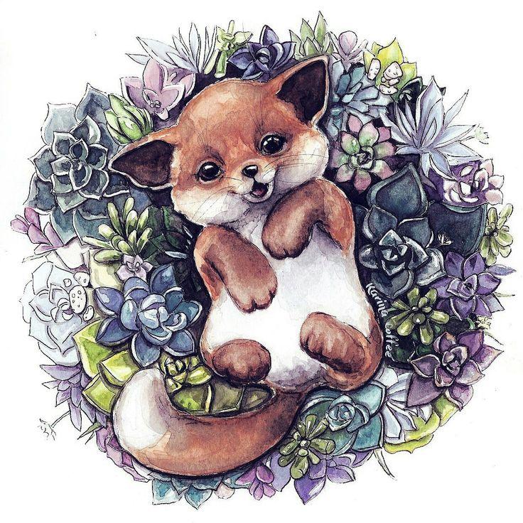 Милые зверюшки картинки нарисованные