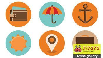 Icon set - Tourism - Zizaza item for