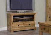 Deluxe Rustic Oak TV Cabinet
