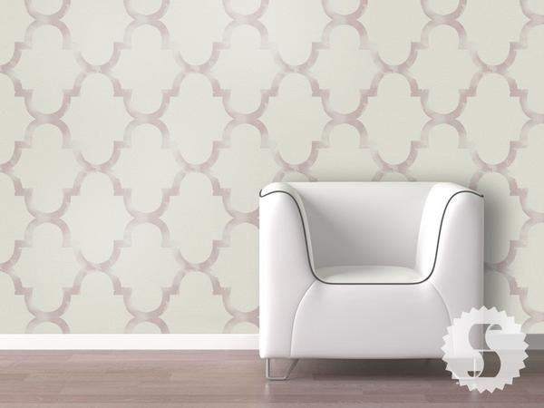 Distressed Trellis Removable Temporary Wallpaper