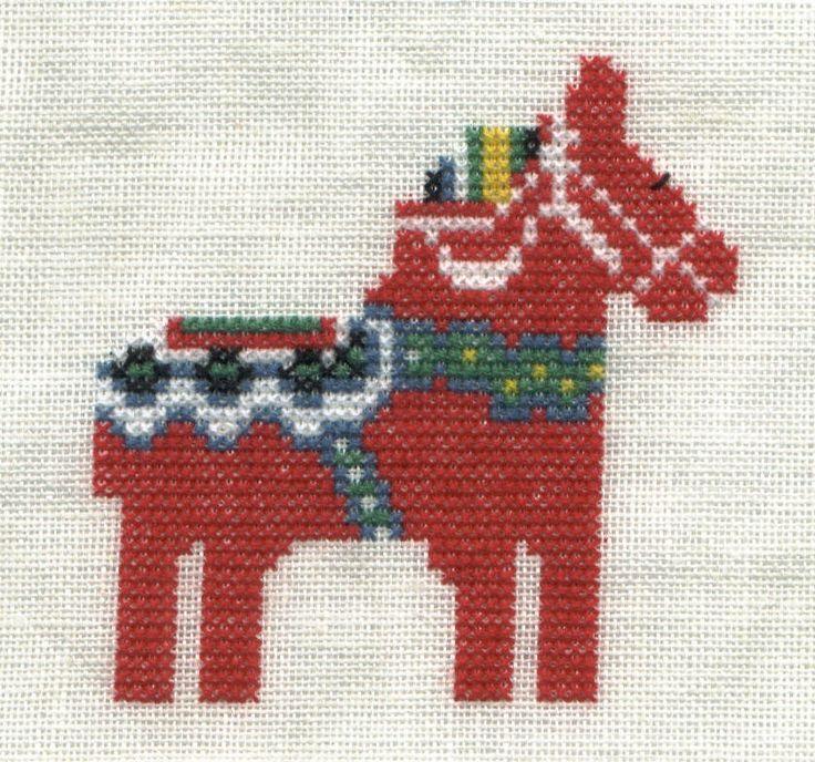 Scandinavian Stitches ~ Dala Horse cross stitch Chart