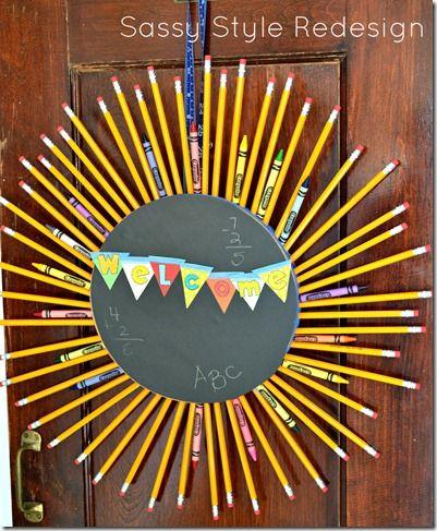 Back to school pencil wreath.
