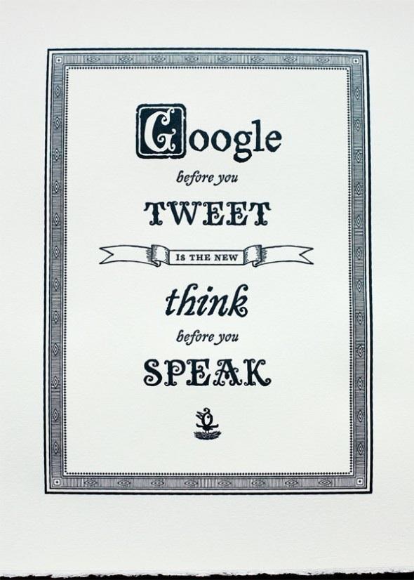 Denk na voordat je een bericht de wereld in stuurt!