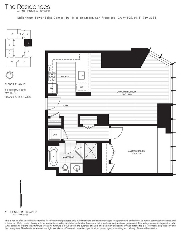 San francisco millennium tower floor plans for Floor plan finder