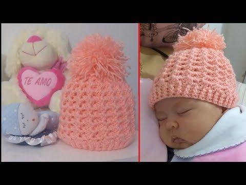 Touca de Crochê para Bebe Recém Nascido Passo a Passo. Trabalho  confeccionado com a linha Mais Bebe Criculo Obrigada! 3389d32578e