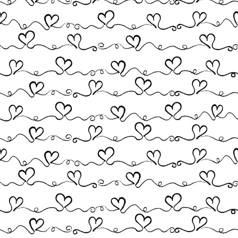 Heart Wave fabric by louisemachado on Spoonflower - custom fabric