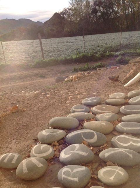 Calligraphic Rocks by Heleen de Haas at the Letterhuis Guest Farm