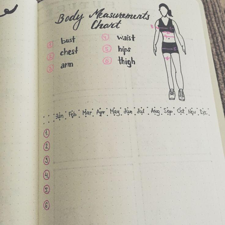 Body measurements chart.