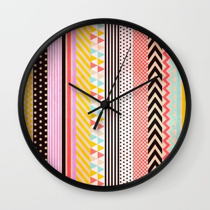 Washi Tape Wall Clock                                                                                                                                                                                 More