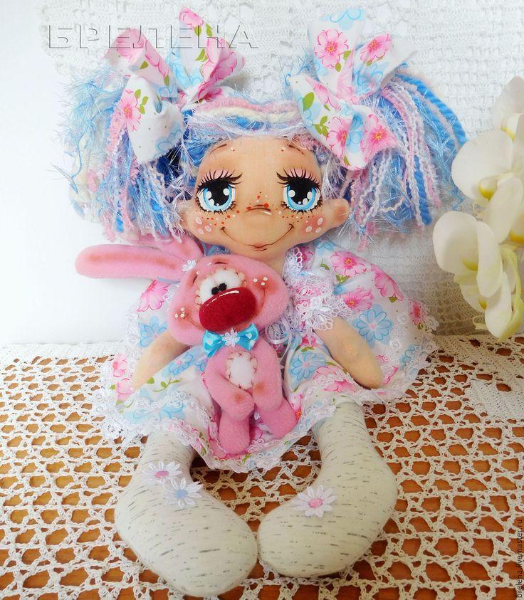 """Купить Текстильная кукла """"Милая Зайка"""" 2. Интерьерная кукла. - розовый, интерьерная кукла"""