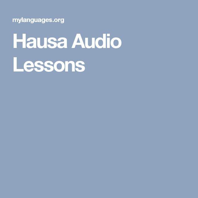 Hausa Audio Lessons
