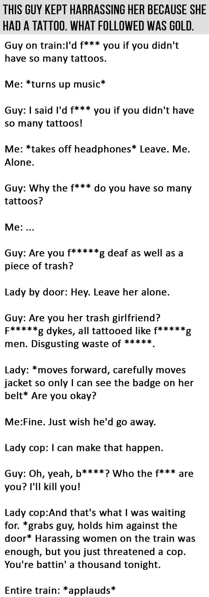 He Thought He'd Get Away With Harassing A Woman On A Train. This Is GOLD.