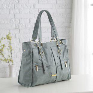 Timi and Leslie Dawn Convertible Diaper Bag - Cloud Blue - Designer Diaper Bags at Diaper Bags