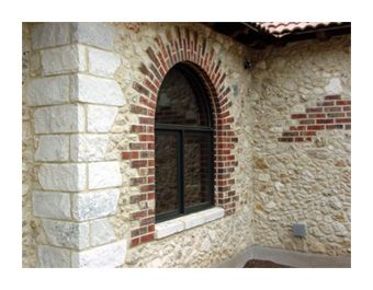 Stucco Homes Bricks And Rock And On Pinterest