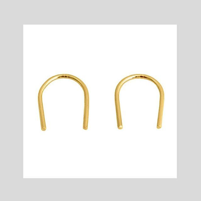 U EARRINGS #gold #rosegold Shop now by following the link in bio or check out the full range at correyandlyon.com.au