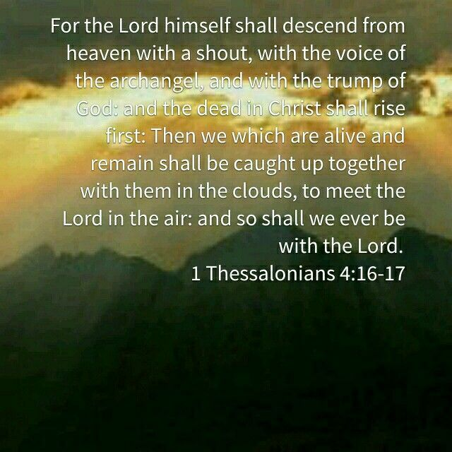 caught up to meet him in the air scripture for healing
