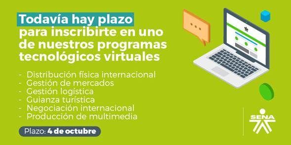 Luego de ofertar, la semana anterior, más de 26 mil cupos para formar a más colombianos en tecnologías y especializaciones tecnológicas virtuales
