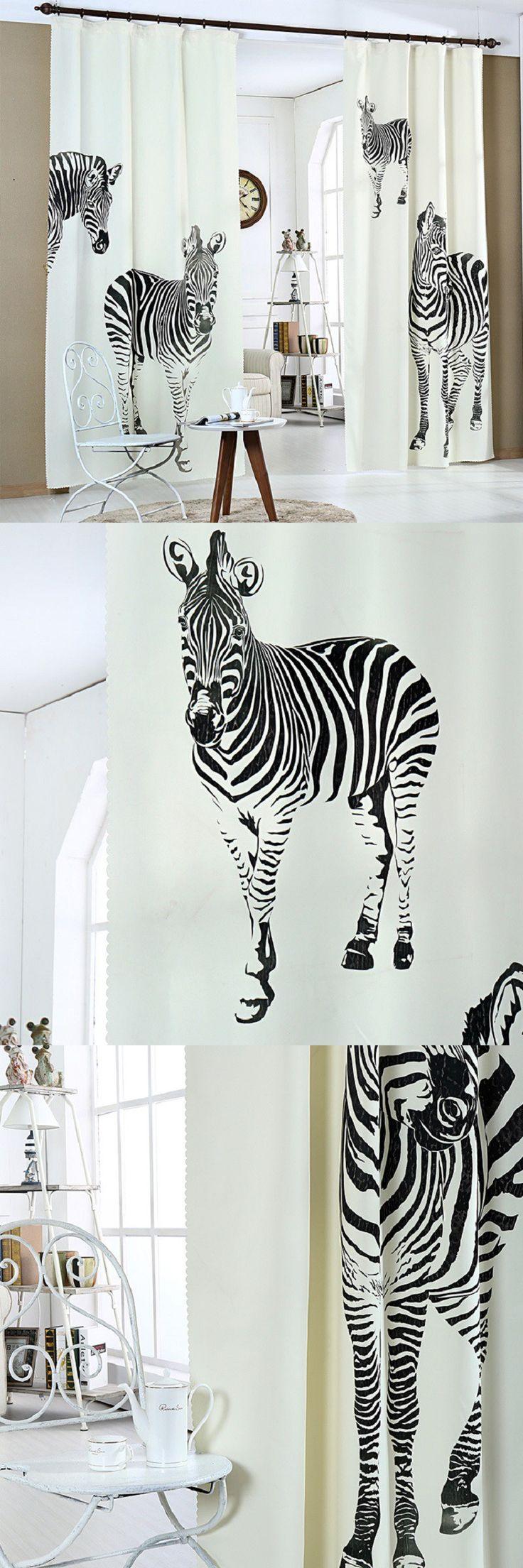 3D curtains for kids room zebra pattern Cartoon 3d curtains for living room luxury 3d curtains Printed cortinas de bano Decor $55.77