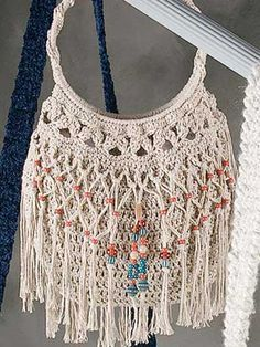 Crochet Accessories - Crochet Purse Patterns - Beaded Bag & Belt Free Crochet Pattern