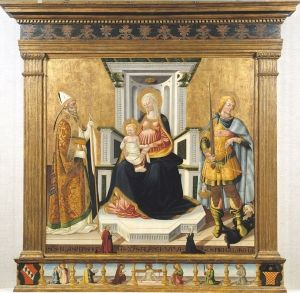 Virgin and Child with Saint Michael and Saint Blaise by Neri di Bicci