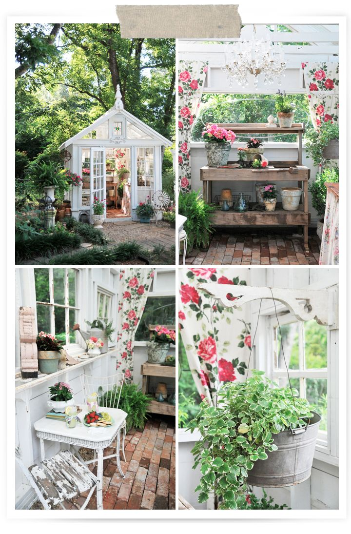 I want a gardening shed/green house like this!