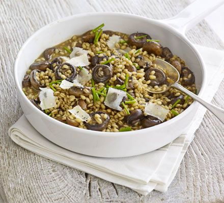 Love risotto? Try this low-fat version, which swaps traditional risotto rice for pearl barley
