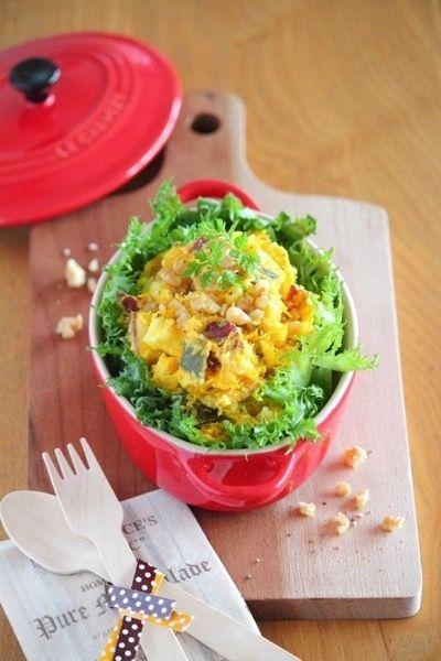 スイートパンプキンのクリームチーズサラダ。 by 栁川かおり | レシピサイト「Nadia | ナディア」プロの料理を無料で検索