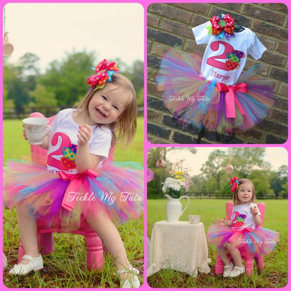 Tea Party Birthday Tutu Outfit on Etsy, $54.95