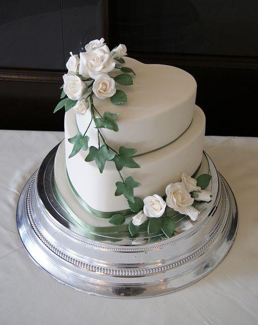 Roses Heart Wedding Cake   Flickr - Photo Sharing!
