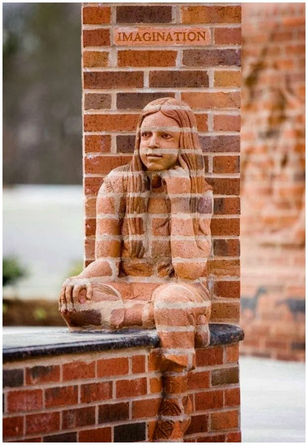 """Imagination""-Brad Spencer Breathes Life into Brick Sculptures #brick #sculpture #art"