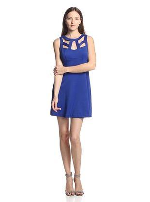 52% OFF Blu39 Women's Cutout Fit & Flare Dress (Blue)