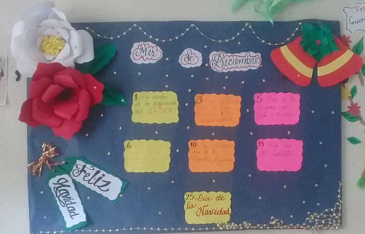 Mural informativo de navidad