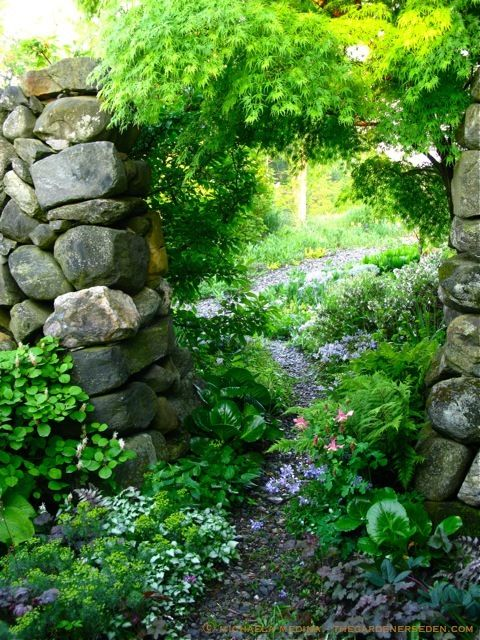 Secret Garden door with Stonework by Vermont artist Dan Snow. Garden design and photography by Michaela Medina. Welcome...   # Pinterest++ for iPad #