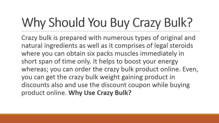 Why Should you buy #crazybulk