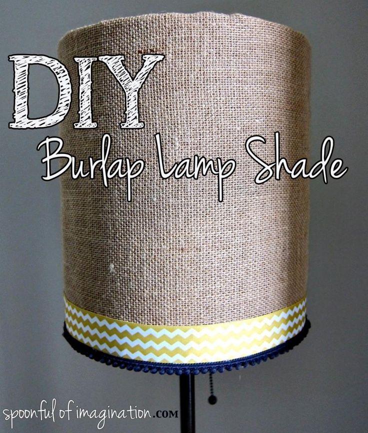 Best 25+ Burlap lamp shades ideas on Pinterest   Lamp shades near ...