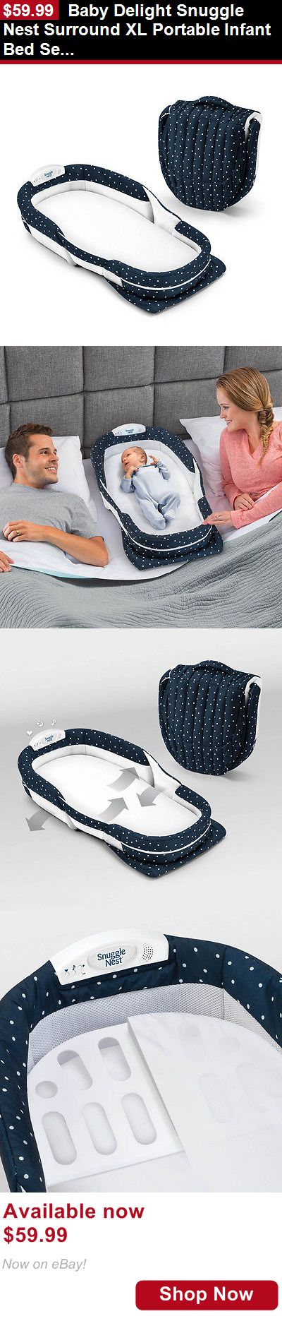 Baby Co-Sleepers: Baby Delight Snuggle Nest Surround Xl Portable Infant Bed Sea Navy Swiss New BUY IT NOW ONLY: $59.99