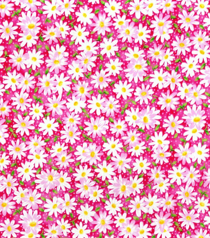 Keepsake Calico Fabric-Packed Daisy PinkKeepsake Calico Fabric-Packed Daisy Pink,  6.99