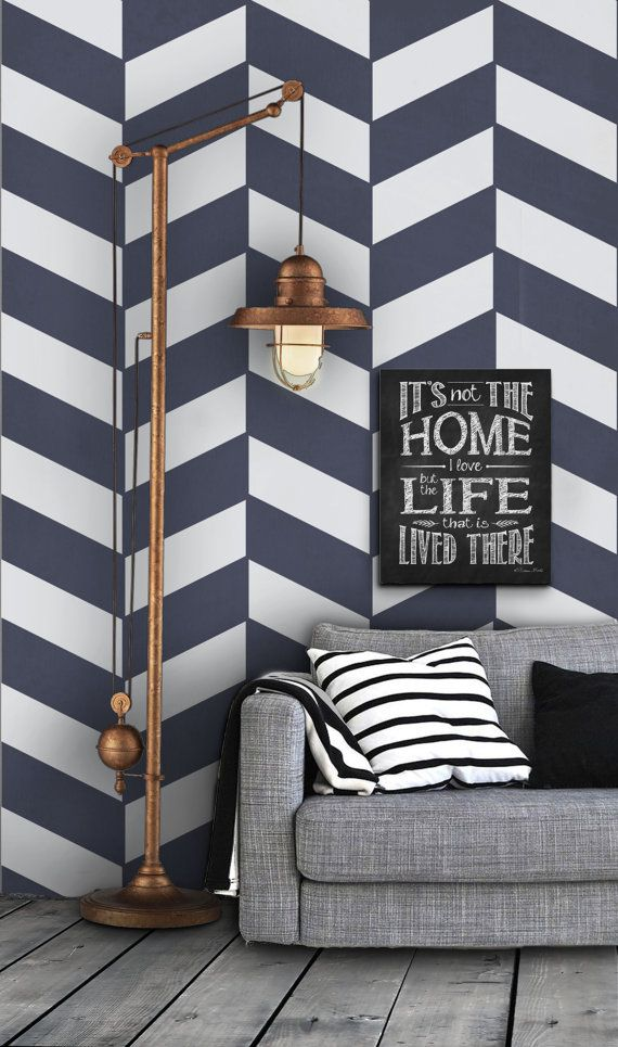Geometric Herringbone Pattern Self Adhesive Vinyl by Livettes, $34.00